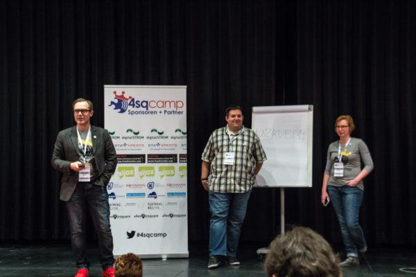 Die 4sqcamp-Organisatoren