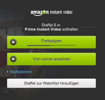 Amazon Instant Video merkt sich quer über die Geräte, wo man mit der Sendung oder Serie gerade war. Das ist praktisch