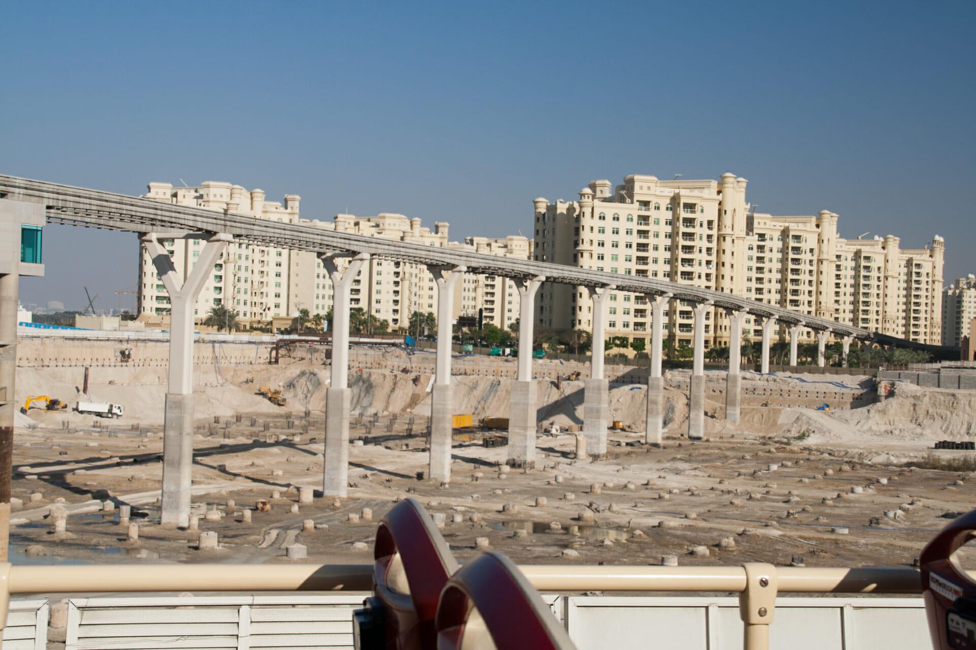 Dubai The Palm Mall Construction
