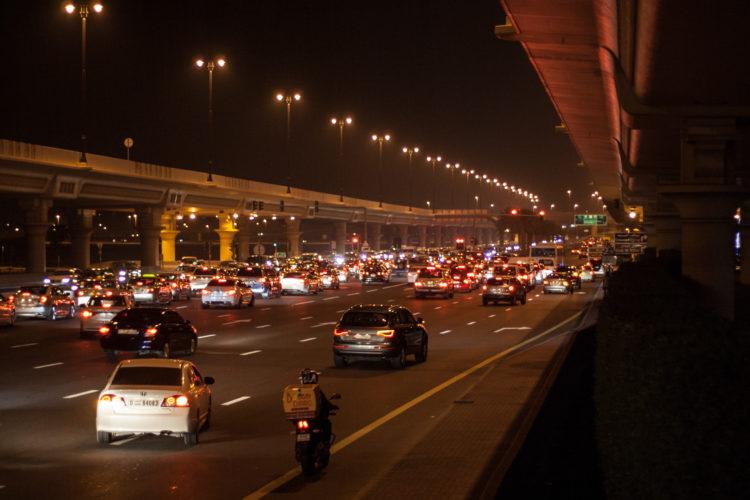 Dubai Financial Centre Rd by Night