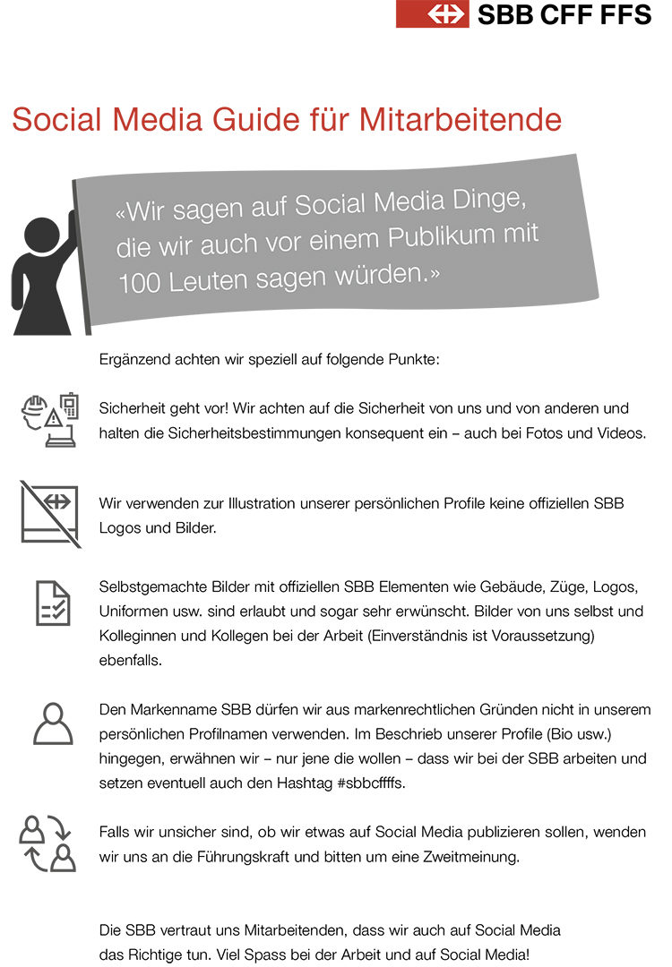 SBB Social Media Guidelines