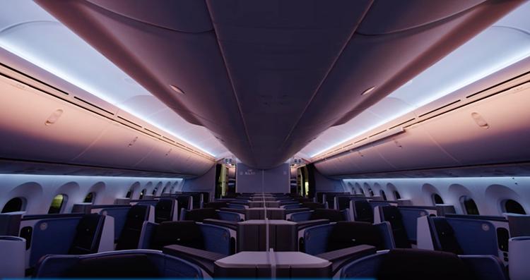 KLM Dreamliner Unboxing Boeing 787 Cabin