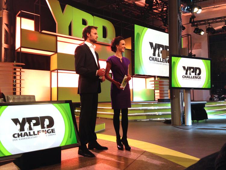 Das Moderatorenteam Barbara Fleißner und Florian Rudig