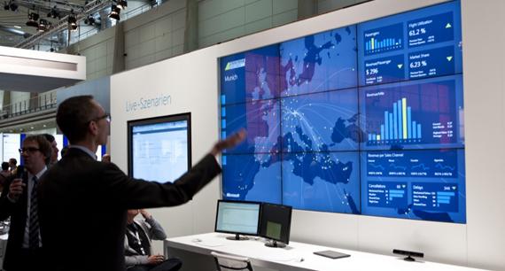 Aufrufen von Geschäftszahlen über Kinect bei Microsoft