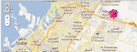 Centro Sharjah Kartenansicht