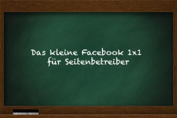 kleine 1x1 für Facebook Pages