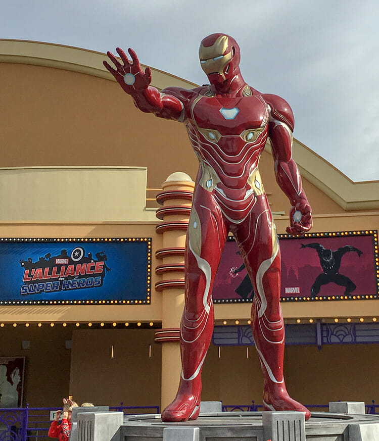 Marvels Ironman im Disneyland Paris