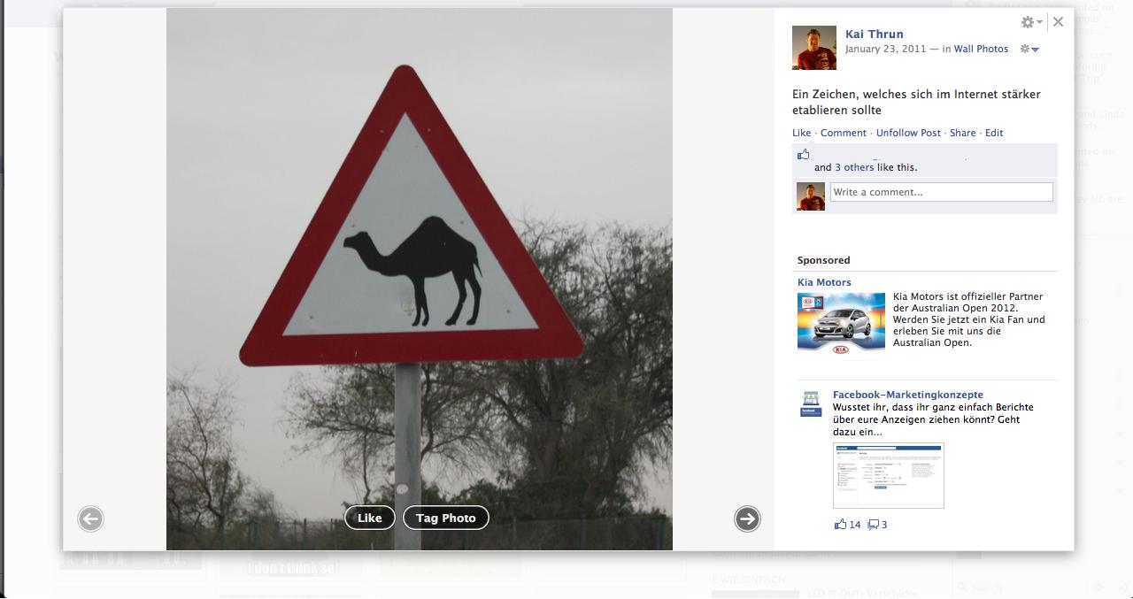 Facebooks neue Fotoansicht