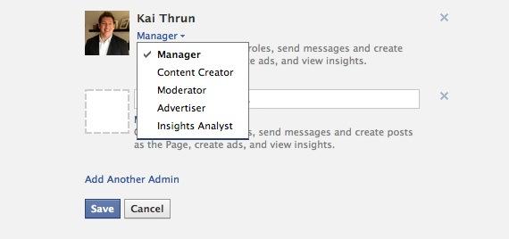 Facebook Adminlevel