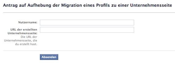 Facebook Aufhebungsantrag Migration