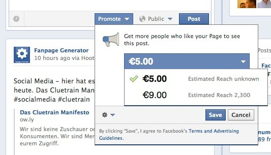 Facebook Promote Posts