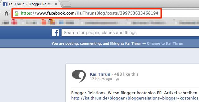 Facebook Statusmeldungen