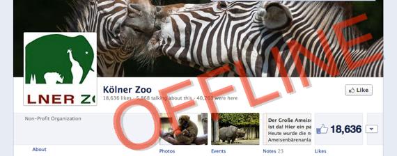 Facebook Kölner Zoo