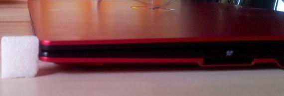 Fujitsu Lifebook U722 Höhe
