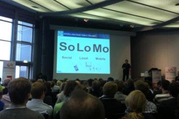 Gerd Leonard bei seinem Vortrag. Foto von @hobbbes