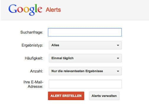 Google Alert - Ergebnisse per Mail bekommen