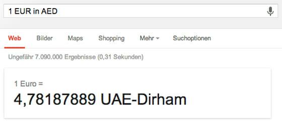 Google Waehrungsrechner
