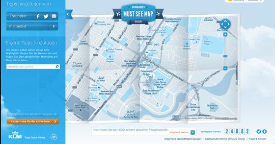 KLM Must See Map - Teilen und Eintragen