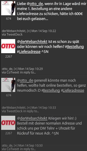OTTO Service via Twitter