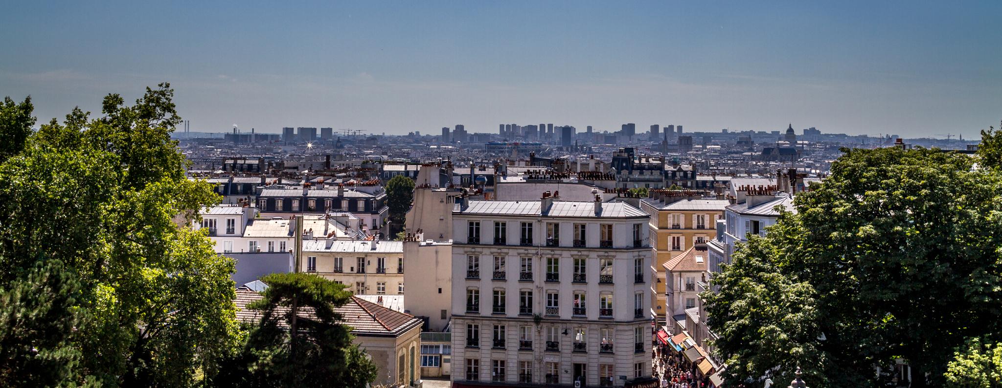Die Aussicht vom Montmartre in Paris kann sich sehen lassen