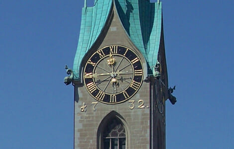 Züricher Turmuhr