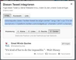 Tweets integrieren