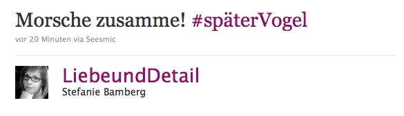 Beispiel für Twitter Hashtag
