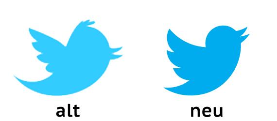 Twitter altes und neues Logo