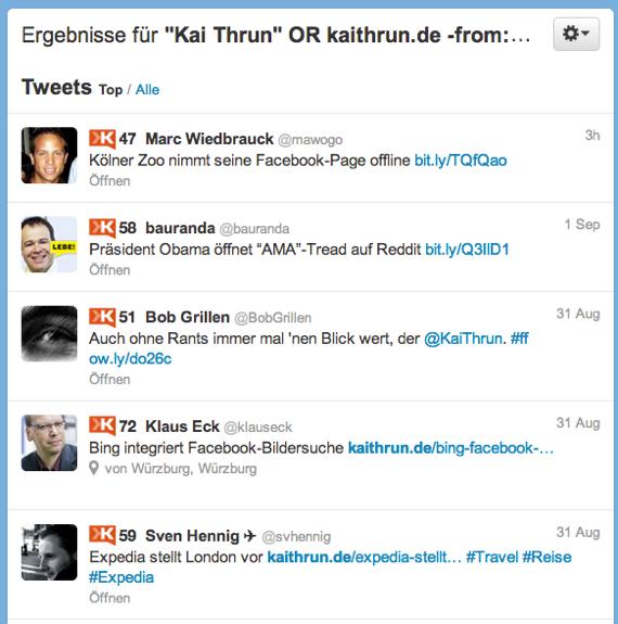Twitter-Suche zur Überwachung